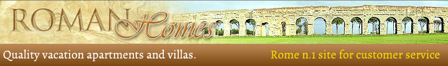 Advertise apartments and villas for rent in Rome in the Roman Homes website