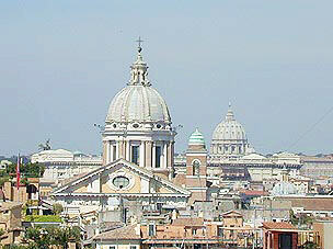 A forest of domes in Rome