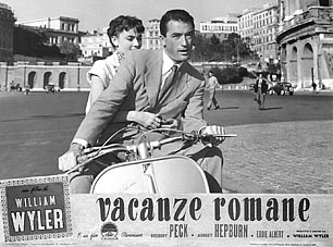 A cult film Roman Holidays 1953 entirely shot in Rome