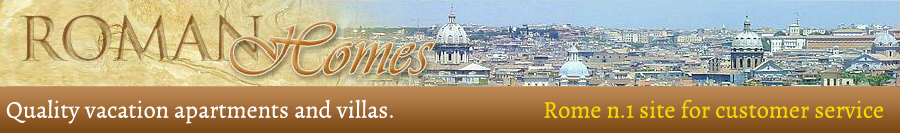 Rome apartments and villas rentals