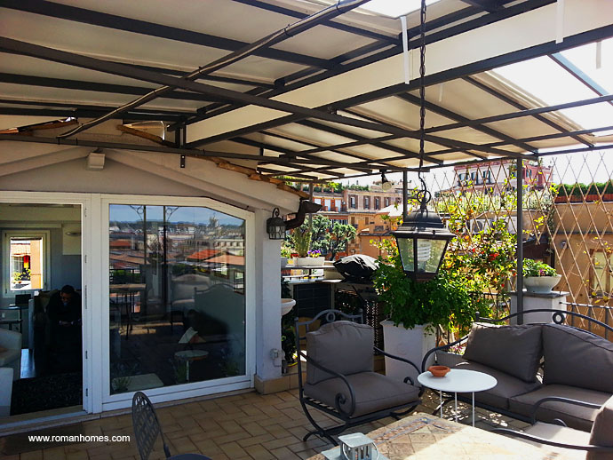New Covering Of The Terrace Of The Spanish Steps Rome Seagulls Panoramic Penthouse