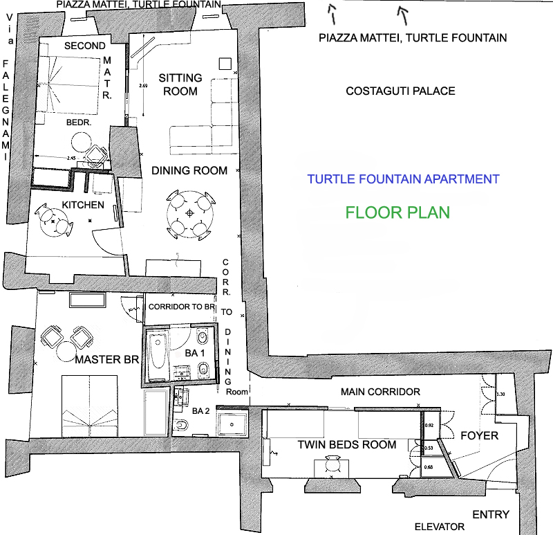The Floor Plan Or Apartment Map Of Turtle Nest Only Is Shown Not Panoramic Terrace And Its Additional Kitchen