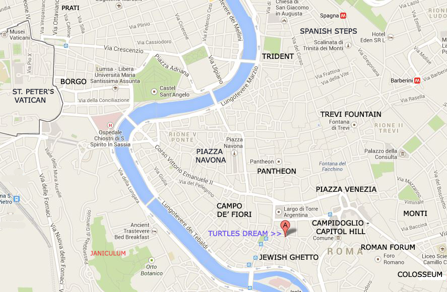 Map And Floor Plan Of The Navona Campo De Fiori Turtles