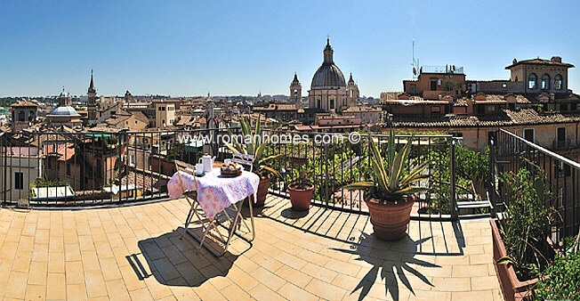 Higher Terrace Of Rome Navona Square Elegant Four Bedroom
