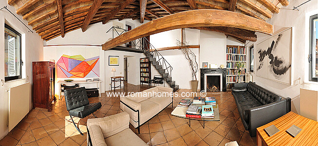 rome apartments navona area with large sitting room - Rome Apartments