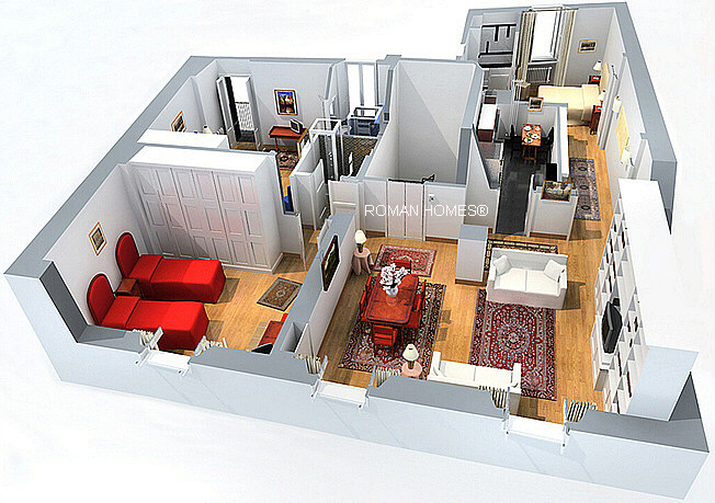 3 Bedroom Apartment Floor Plans