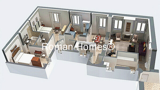 Ancient roman villa floor plans house plans for Modern roman villa house plans