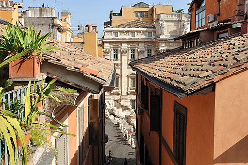 Terrace One Bedroom Fountain View Of Trevi Fountain Penthouse With Terrace Three Coins The