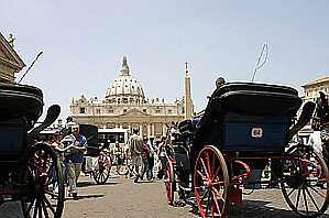 Rome carriages caution of scams