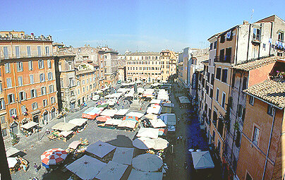 Rome Campo De Fiori Piazza Presentation With Apartments For Rent In The Quarter